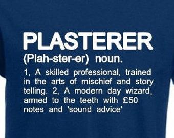 defff5bb PLASTERER Funny Men's T-Shirt Plastering Builder Trade Definition Birthday  Gift Dictionary