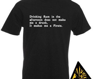 I LOVE PIRATES T-SHIRT joke funny jack sparrow jolly roger buccaneer Mens Unisex