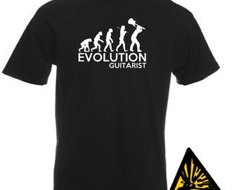 Evolution Of Man From Ape To Guitarist T-Shirt Joke Funny Tee T Shirt Tshirt