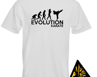 Evolution Of Man From Ape To Karate T-Shirt Joke Funny Tee T Shirt Tshirt