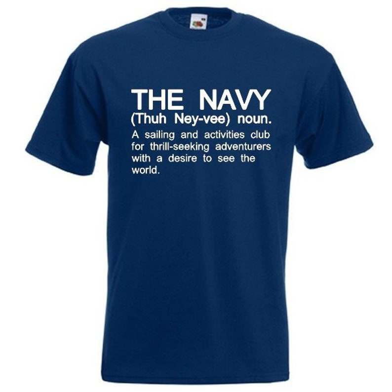 72d8bc09 THE NAVY Funny Men's sailor armed forces services T-Shirt   Etsy