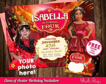 Elena Of Avalor Invite Invitation Printable Digital File Birthday Party