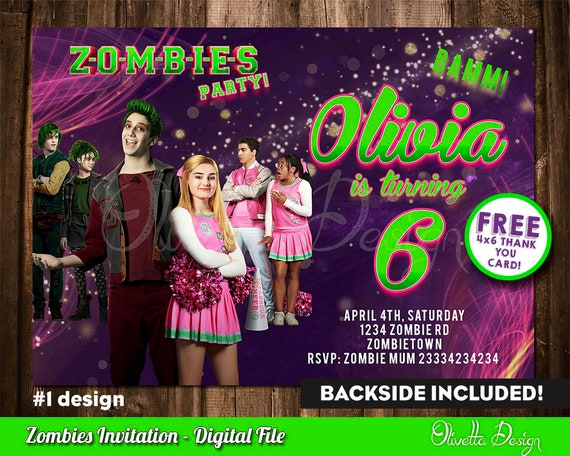 Zombies Invitation For Birthday Party Invite