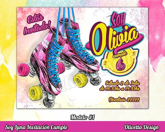 Soy Luna Invitación Imprimible Soy Luna Invitación Soy Luna Candy Soy Luna Imprimible Soy Luna Fiesta Archivo Digital