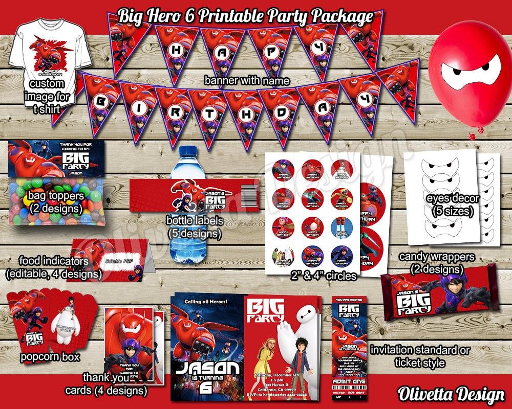 Big Hero 6 Birthday Party Package Printable