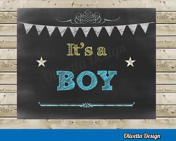 Its A Boy Chalkboard Printable File