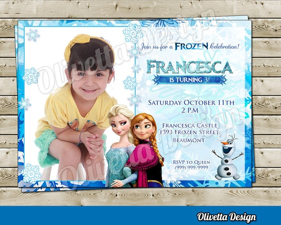 photograph regarding Frozen Birthday Card Printable called Elsa Anna Frozen Invitation - Frozen Birthday Invitation