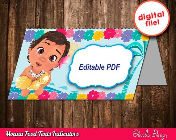 Moana Indicadores Candy Vaiana Golosinas Feliz Cumpleaños Moana Bebé Vaiana Bebé Descarga Instantanea Imprimible
