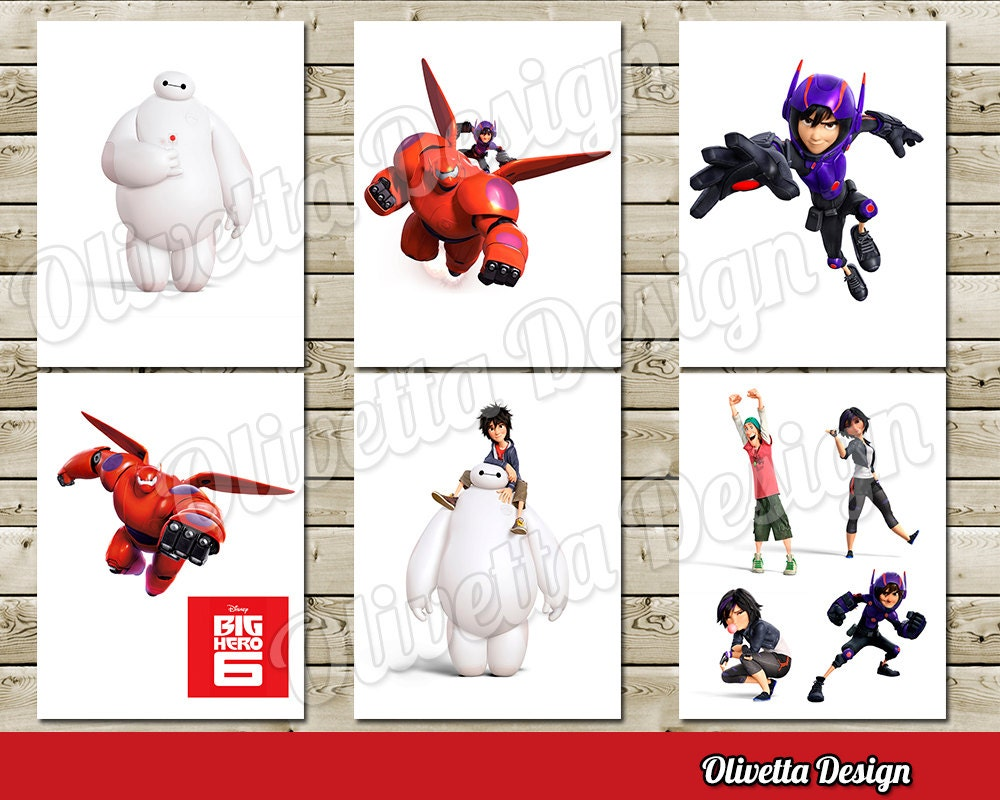Big Hero 6 Printable INSTANT DOWNLOAD Birthday Party For