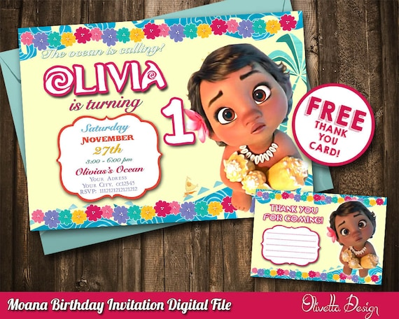 photo relating to Printable Moana Invitations identified as Little one Moana Invitation, Boy or girl Vaiana Invitation, Printable