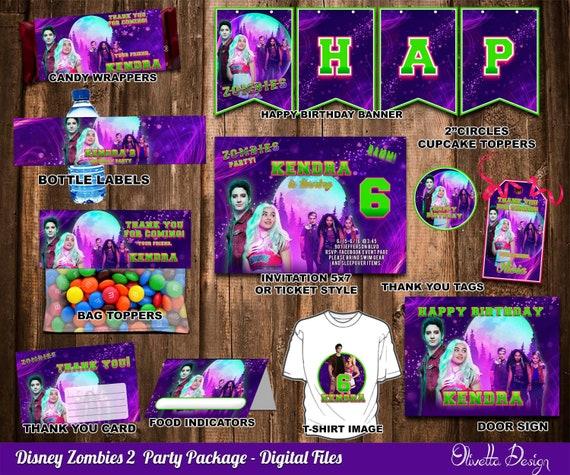 Zombie Birthday Party Invitations Personalized Custom