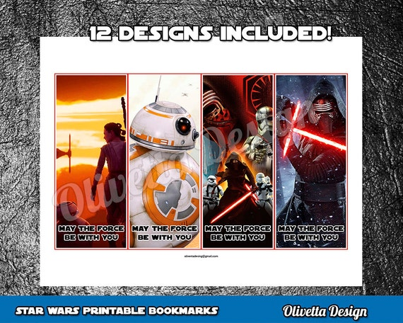 picture relating to Star Wars Bookmark Printable named Star Wars Bookmarks Birthday Celebration Prefer Printable 12