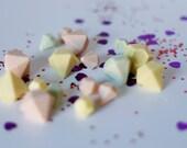 Pastel Coloured White Chocolate Diamonds/Gems