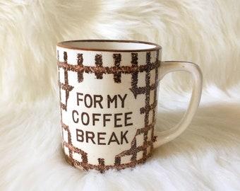 Coffee Break Vintage Ceramic Mug