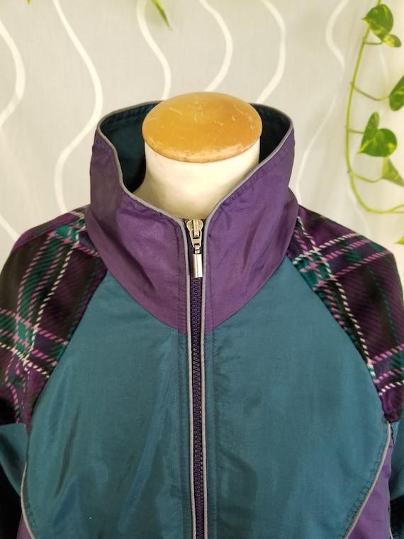 80/'s CB Sports Wool 12 Zip PurpleRed VTG Pullover Mens S FUNKY