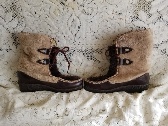 Vintage boots, Viking boots, Winter boots,  Wool b