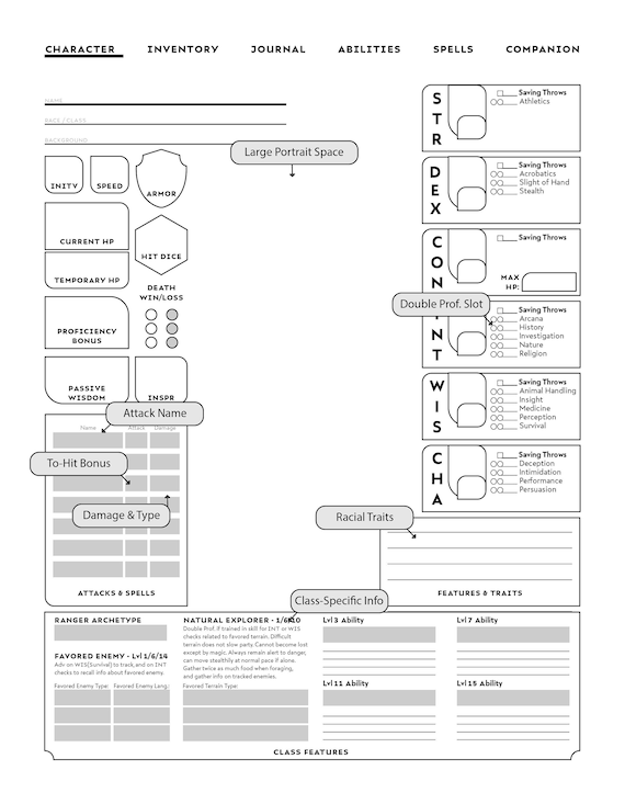 It's just an image of D&d 5e Printable Character Sheet intended for blank