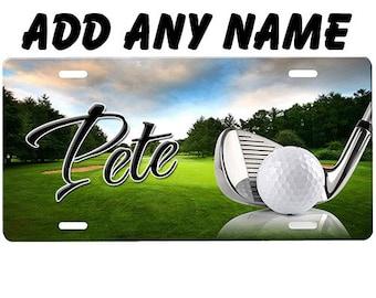 I/'d Rather Be Golfing novelty metal LICENSE PLATE golfer gift green sign