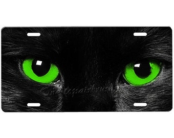 23c00b1ed5a Cat Eyes License Plate