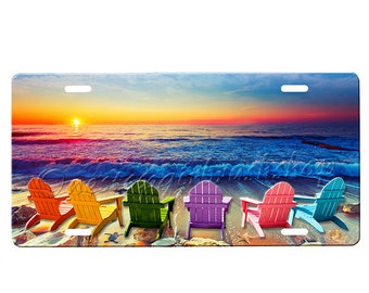 Beach Chairs License Plate