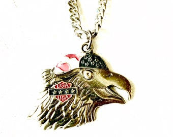 Large pewter Eagle Pendant