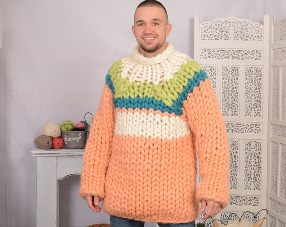 100 % Soft Merino wool Sweater with Cables T718AM