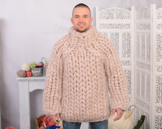 40 strands Heavy mohair sweater, Extremetly soft and thick pullover , Huge sweater  T701M