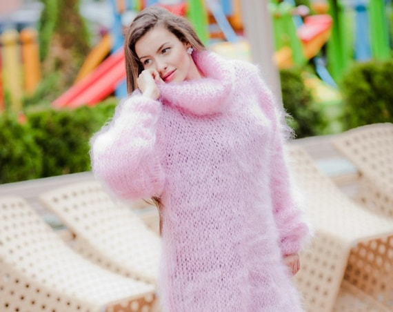oversized mohair dresses, oversized knitting loose sweater, knit dress, minimalist dress, chunky sweater, oversized sweater, chunky knit T66