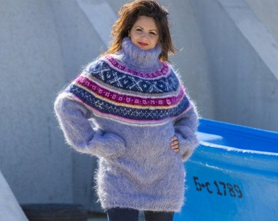 Mohair Sweater, Lopi Sweater, Icelandic Sweater, Hand Knit Sweater, Men Mohair Sweater, Norwegian Sweater, Nordic Sweater, Wool Sweater T557