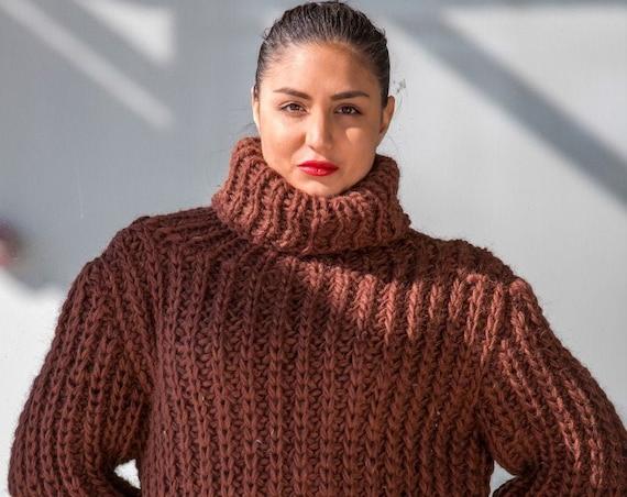 Women's Wool sweater, Wool Sweater | Long Sweater| Wool Sweater | Long Sleeve pull | Organic sweater | Hand-made Sweater, T508