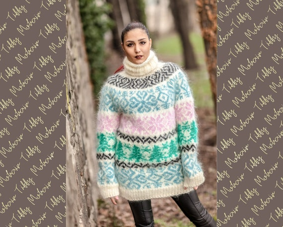 Nodric MOhair Sweater, Knitted Vintage Sweater T412