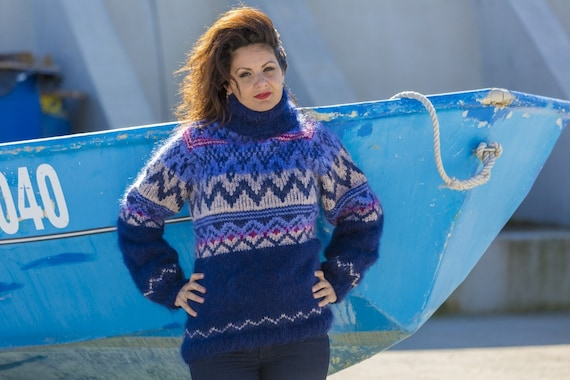 Ready to Ship Mohair Sweater, Lopi Sweater, Icelandic Sweater in size XL T560
