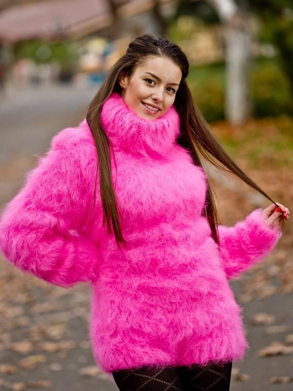 Mohair Bodysuit, Hand Knit Bodysuit, Fetish Bodysuit, Men Mohair Romper, Winter Turtleneck Bodysuit, Fetish Bodysuit, Fluffy Bodysuit  T201