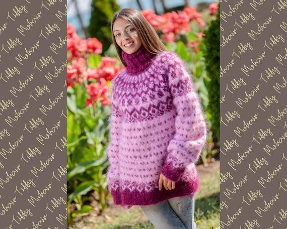 Mohair Sweater, Lopi Sweater, Icelandic Sweater, Hand Sweater, Men Mohair Sweater, Norwegian Sweater, Nordic Sweater, Seamless Sweater T354