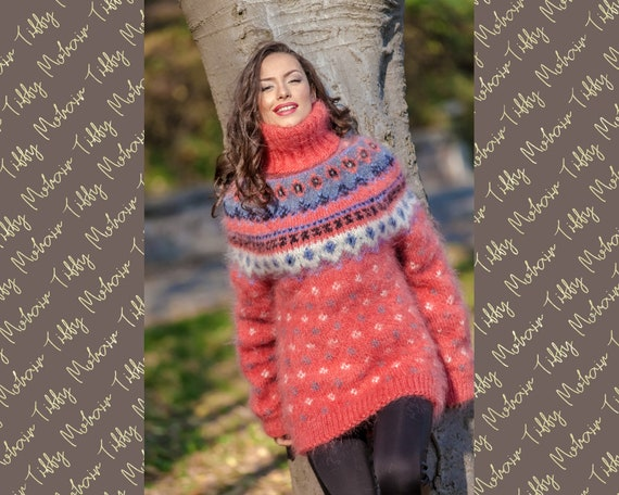 Mohair Sweater, Lopi Sweater, Icelandic Sweater, Hand Knit Sweater, Men Mohair Sweater, Norwegian Sweater, Nordic Sweater, Wool Sweater T385