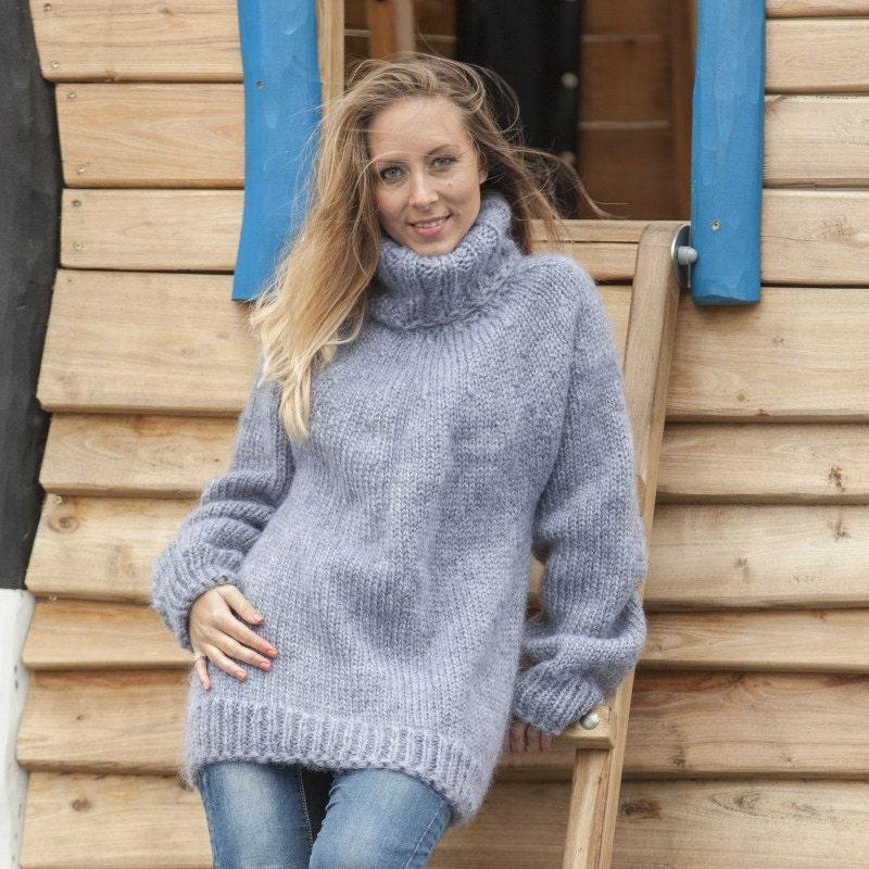 Gray Mohair Sweater b706826db