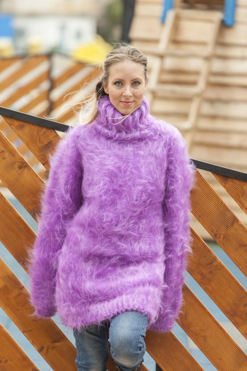 d778e8b7e7 Purple Mohair Sweater