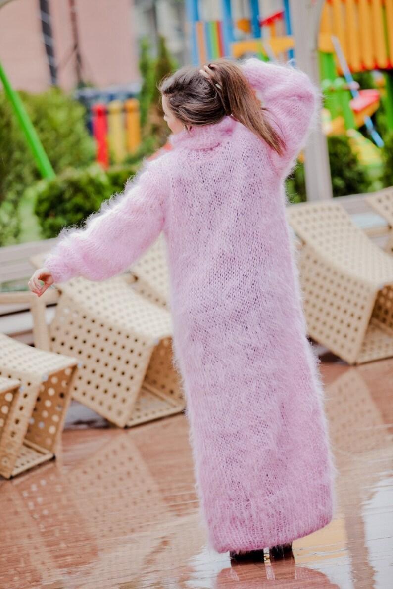 knit dress minimalist dress oversized sweater oversized mohair dresses oversized knitting loose sweater chunky knit T66 chunky sweater