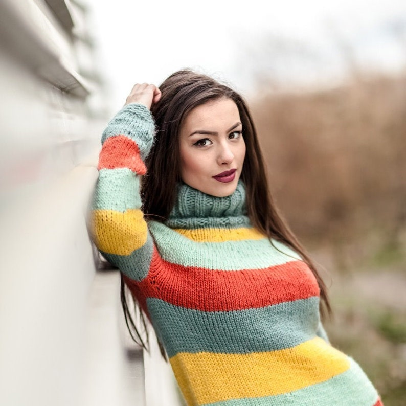 04b4e1c5a45 Soft Wool Dress HandKnit Sweater Chunky Knit Dress