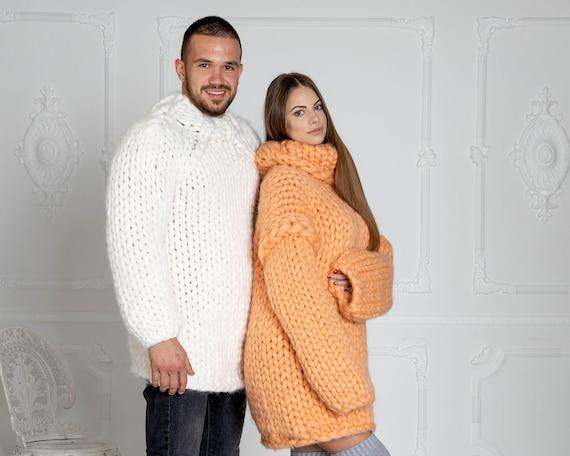 2.5 kg CHUNKY KNIT SWEATER, bulky sweater, Giant knit sweater, Chunky Knit Sweaters, super chunky sweater, Merino chunky sweater T620M