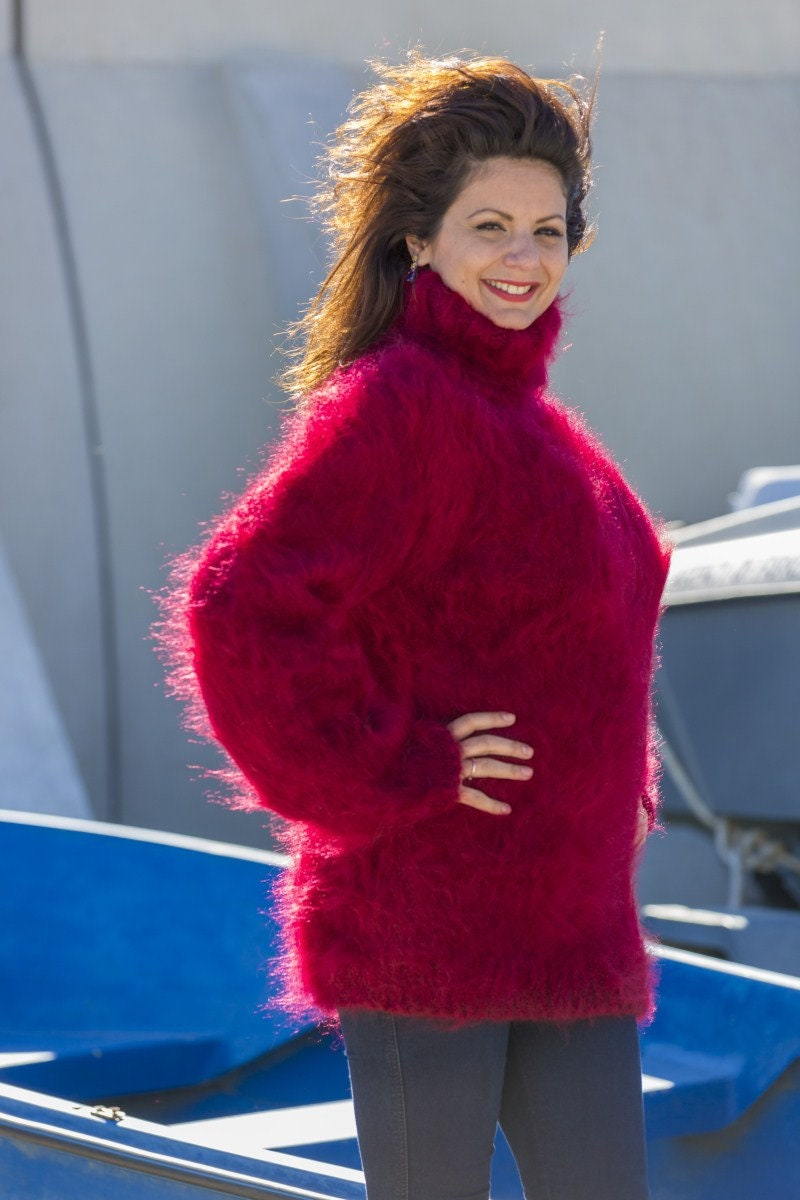 Red Mohair Sweater f0992146e