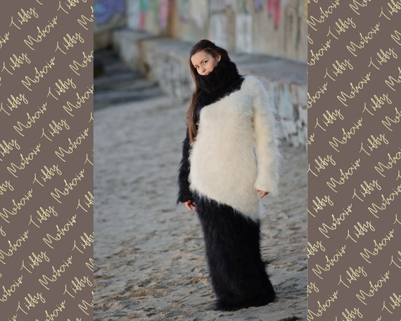 Cosy Mohair Dress, Knit Sweater Dress, Turtleneck Robe, Maxi Dress, Chunky Mohair Dress, Long Fetish Dress, Winter Dress, Knitted Dress T145