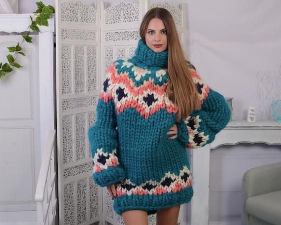 Extra Soft Icelandic Merino wool sweater , Lopi Turtleneck Pullover, Nordic Merino Jumper T 802