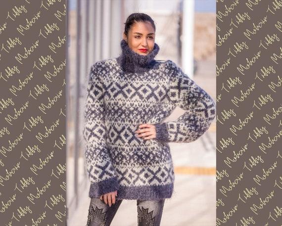 Mohair Sweater, Lopi Sweater, Icelandic Sweater, Hand Knit Sweater, Men Mohair Sweater, Norwegian Sweater, Nordic Sweater, Wool Sweater T527