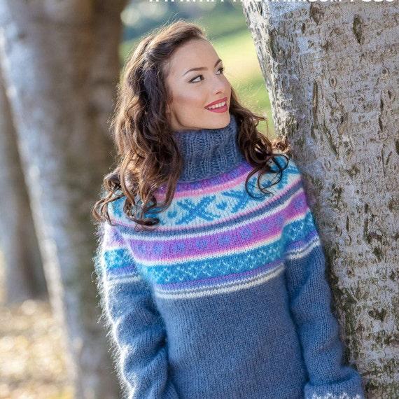 Mohair Sweater, Lopi Sweater, Icelandic Sweater, Hand Sweater, Men Mohair Sweater, Norwegian Sweater, Nordic Sweater, Seamless Sweater T380