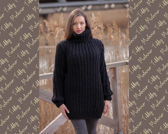 Black Wool Sweater T440
