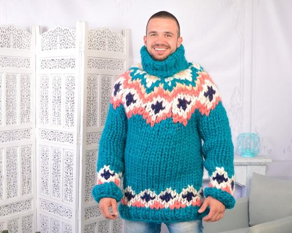 Extra Soft Icelandic Merino wool sweater , Lopi Turtleneck Pullover, Nordic Merino Jumper T 802M