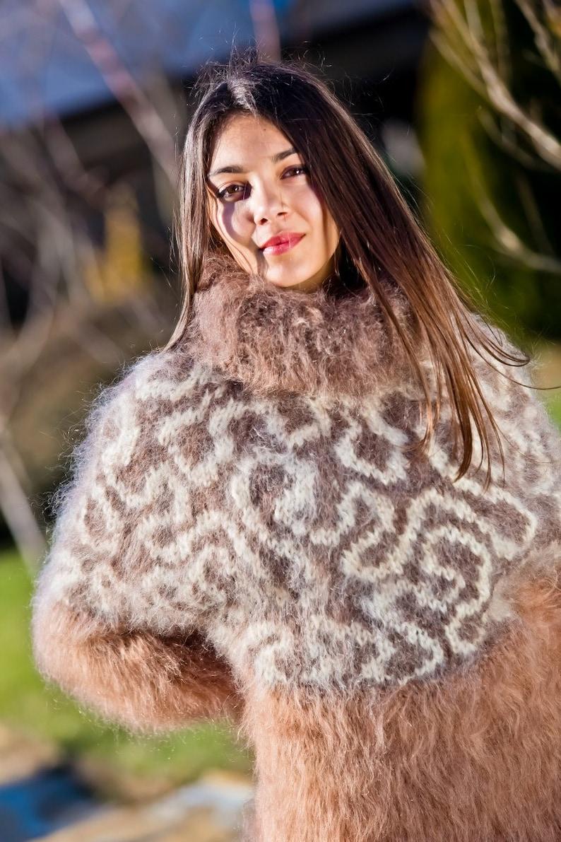 Fetish Mohair Dress Sweater Dress Hand Knit Mohair robe Maxi