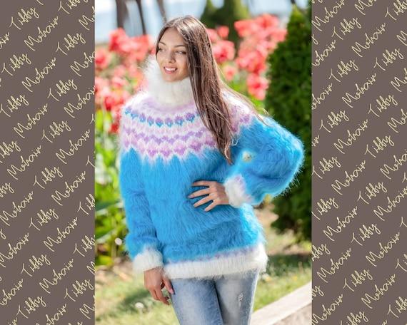 Mohair Sweater, Lopi Sweater, Icelandic Sweater, Hand Knit Sweater, Men Mohair Sweater, Norwegian Sweater, Nordic Sweater, Wool Sweater T357