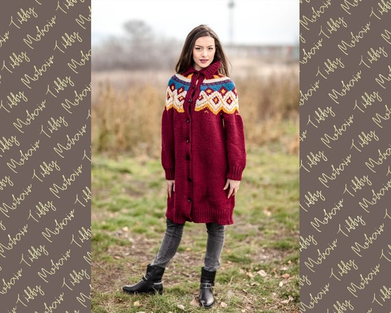 Ready to Ship 100% Cashmere Wool Cardigan in size S T433